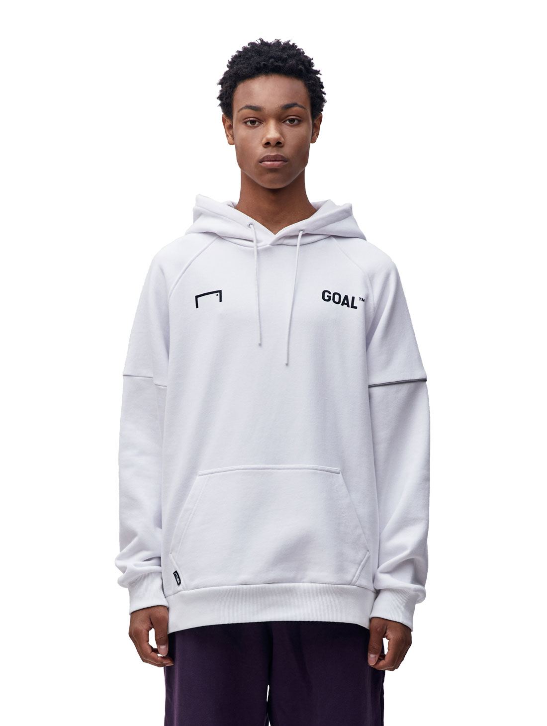 GOALSTUDIO RESPECT HOODIE - WHITE