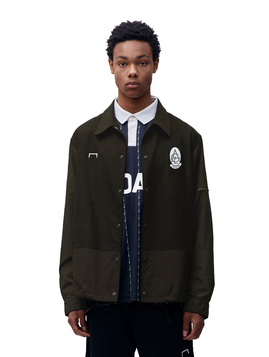 GOALSTUDIO EMBLEM COACH JACKET - KHAKI