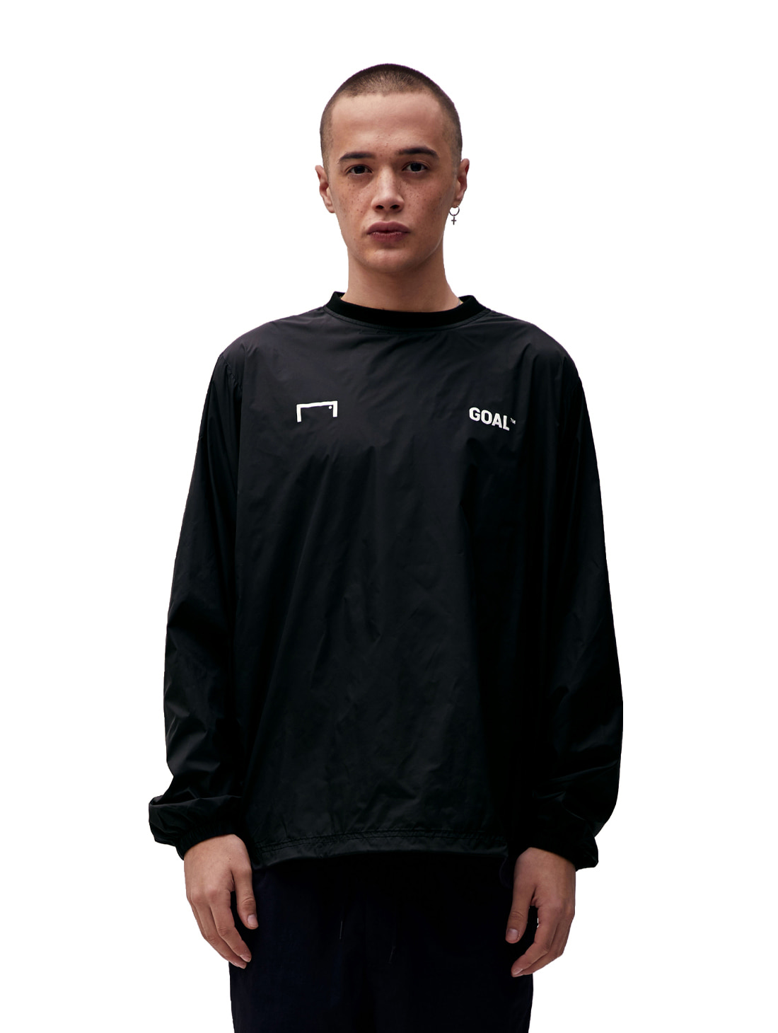 GOALSTUDIO LOGO WIND PULLOVER - DEEP BLACK