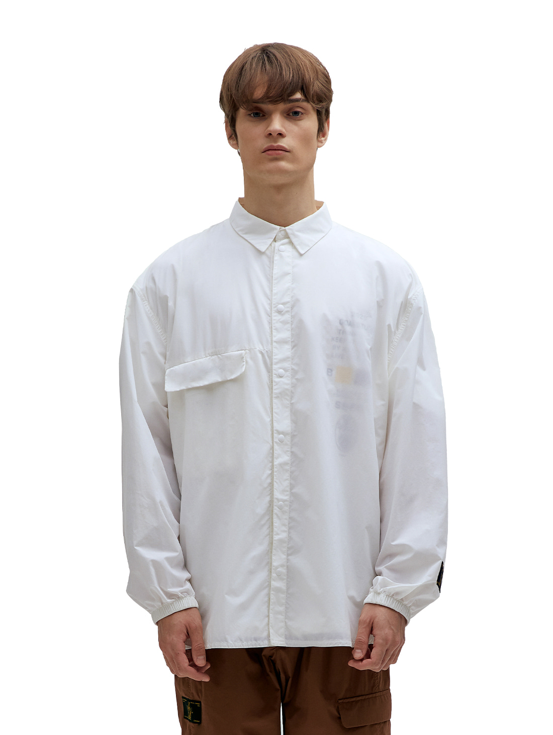 GOALSTUDIO SSFC WINDBREAKER SHIRT - WHITE