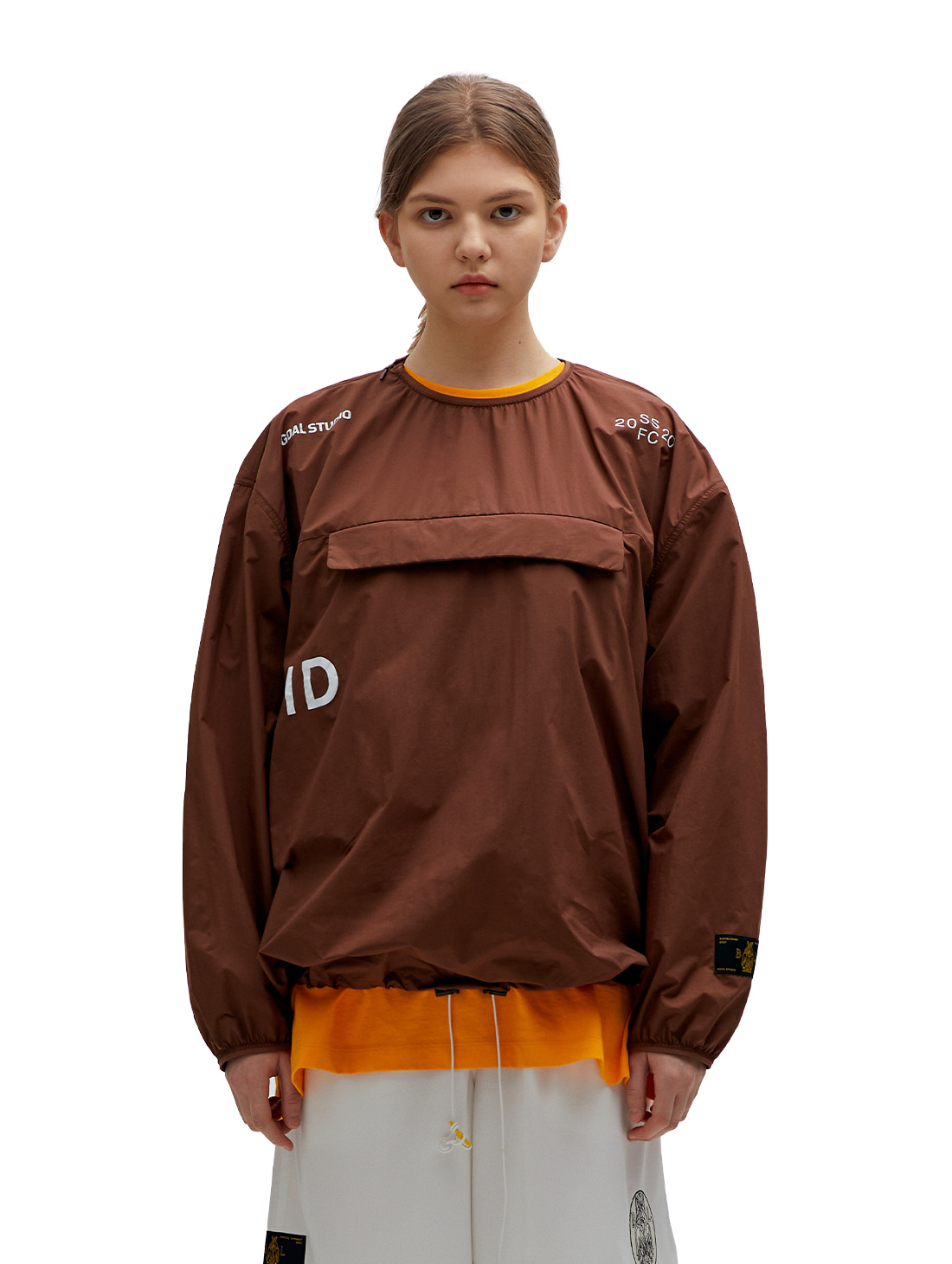 GOALSTUDIO SSFC PULLOVER WINDSHIRT - BROWN