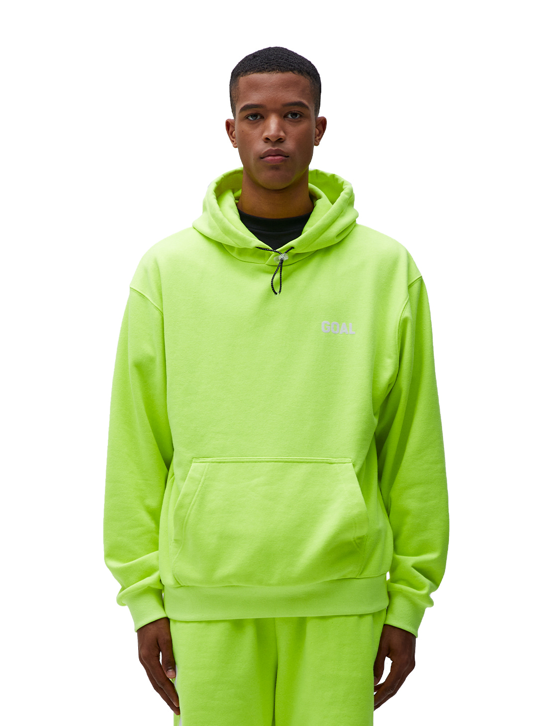 GOALSTUDIO FLOCKING HOODIE - LIME YELLOW