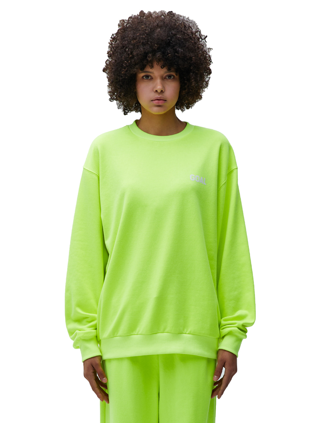 GOALSTUDIO FLOCKING SWEATSHIRT - LIME YELLOW