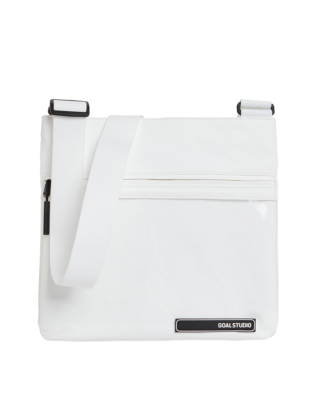 GOALSTUDIO LOGO WAPPEN SACOCHE BAG - WHITE