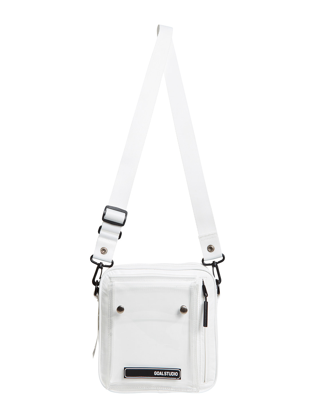 GOALSTUDIO LOGO WAPPEN SMALL BAG - WHITE