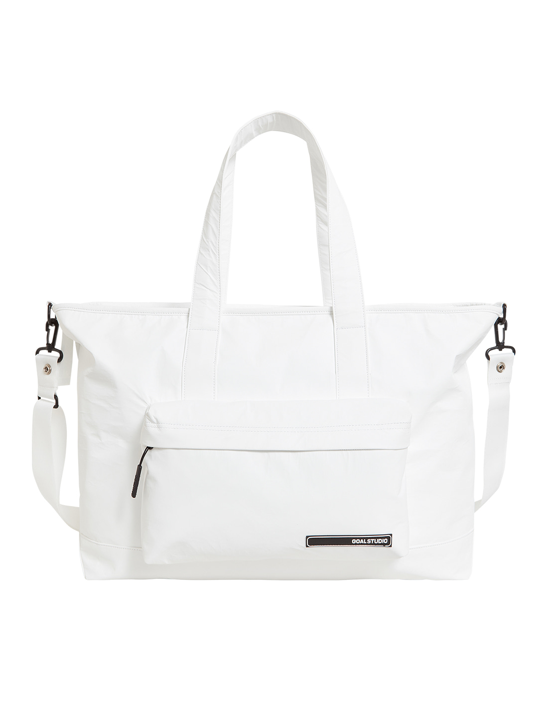 GOALSTUDIO LOGO WAPPEN TOTE BAG - WHITE