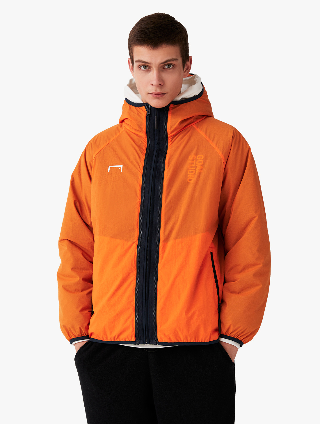 GOALSTUDIO 2IN1 THINSULATE JACKET - ORANGE/NAVY