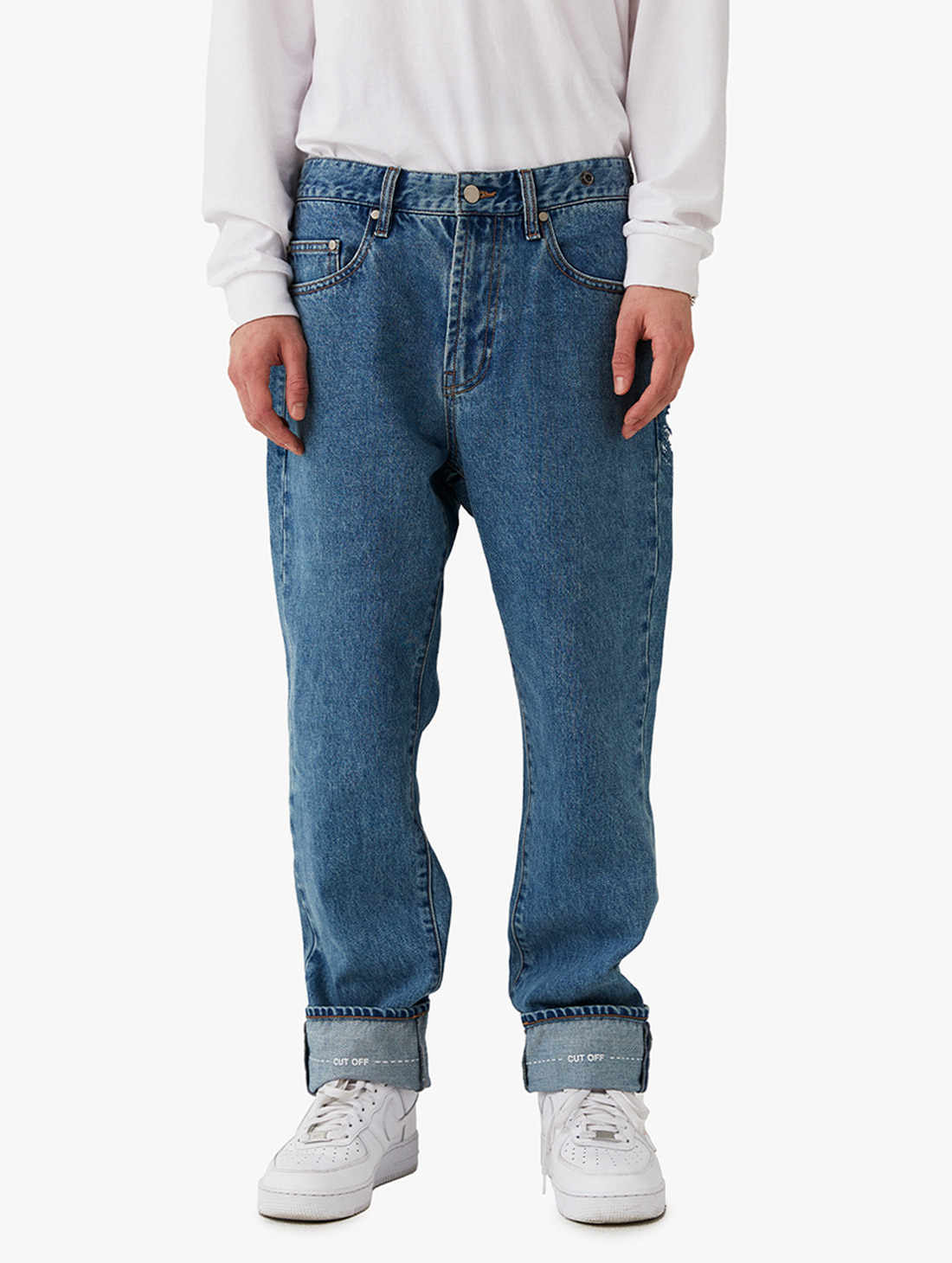 GOALSTUDIO STRAIGHT DENIM PANTS (2 Colors)