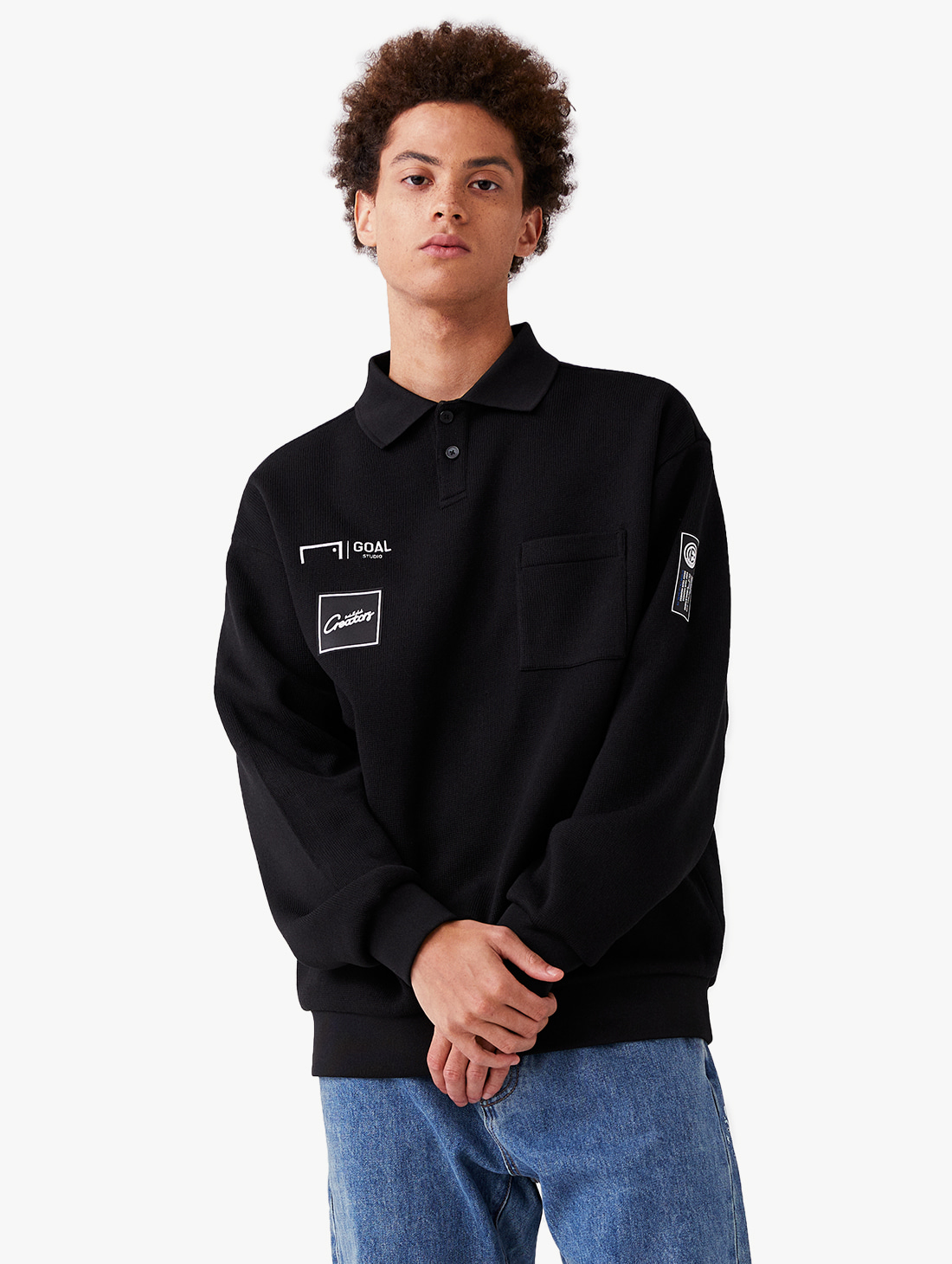 GOALSTUDIO CFC COLLARED KNIT SWEATSHIRT