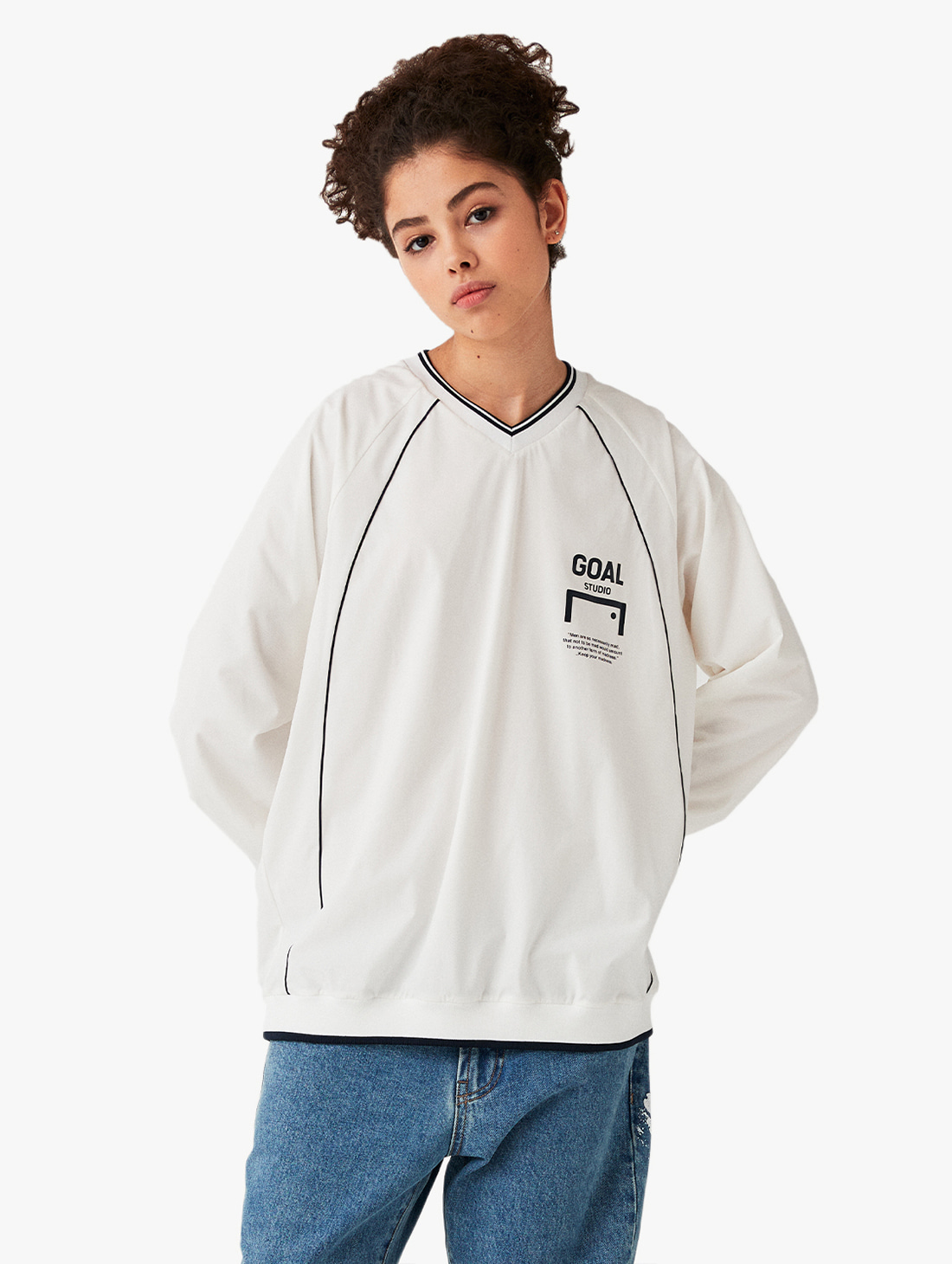 GOALSTUDIO V NECK WINDPULLOVER (2 Colors)
