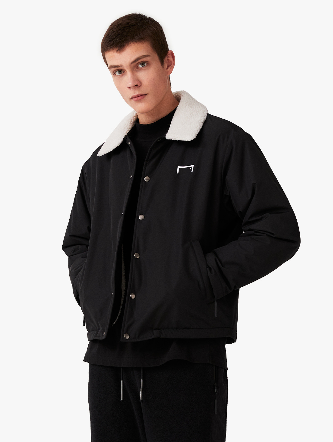 GOALSTUDIO SHERPA COLLAR COACH JACKET