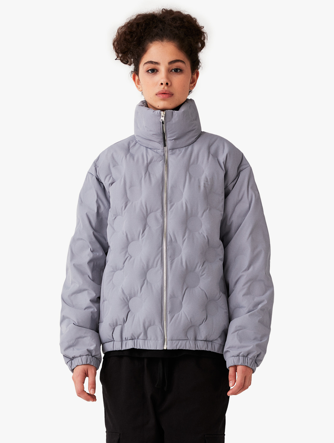 GOALSTUDIO EMBOSSING LIGHT DOWN JACKET - GREY