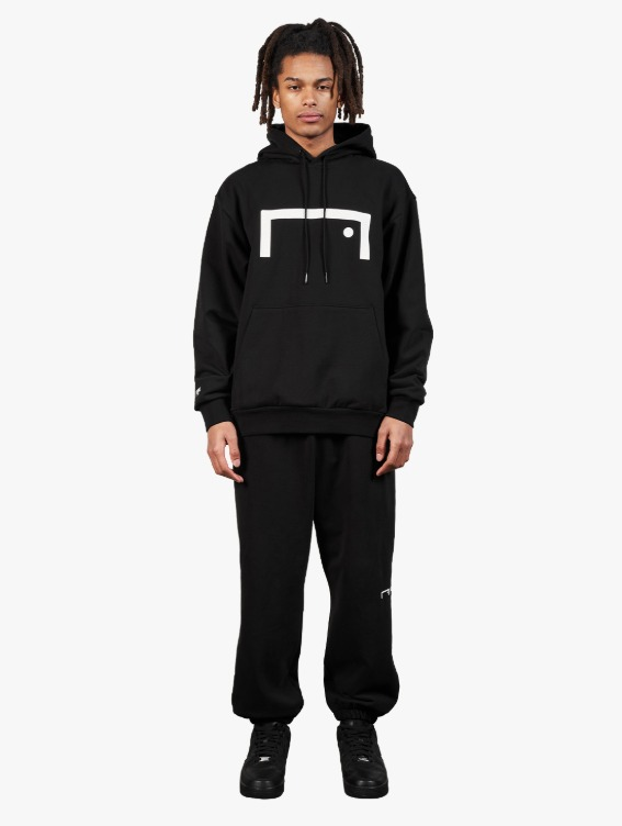 GOALSTUDIO [10% OFF] SIGNATURE LOGO HOODIE & PANTS SET - BLACK