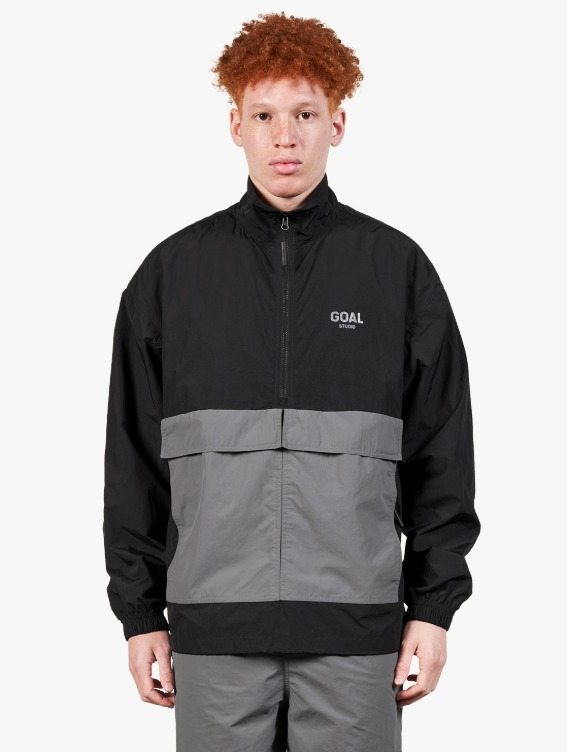GOALSTUDIO TWO POCKET ANORAK - BLACK