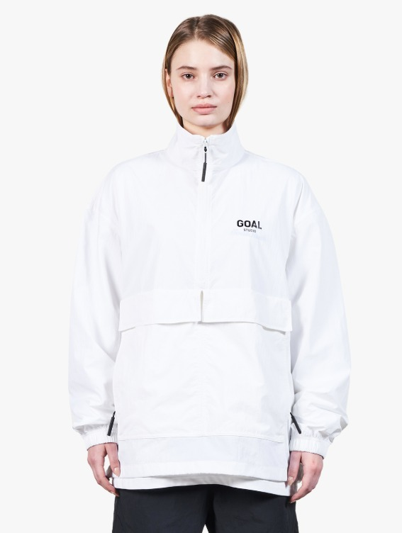GOALSTUDIO TWO POCKET ANORAK - WHITE