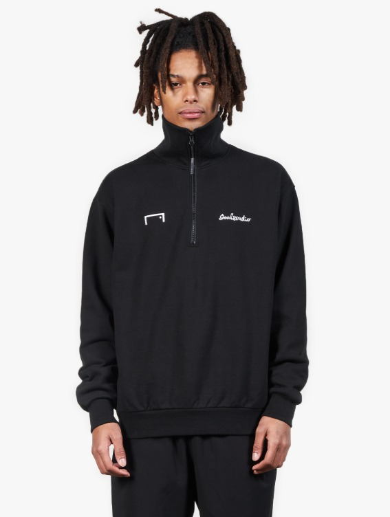 GOALSTUDIO HEART BALL HALF ZIP-UP - BLACK