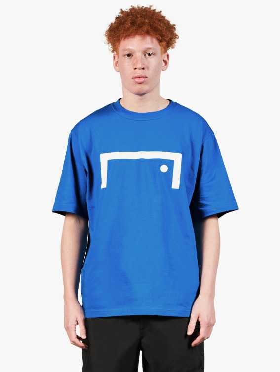 GOALSTUDIO SIGNATURE LOGO TEE - BLUE