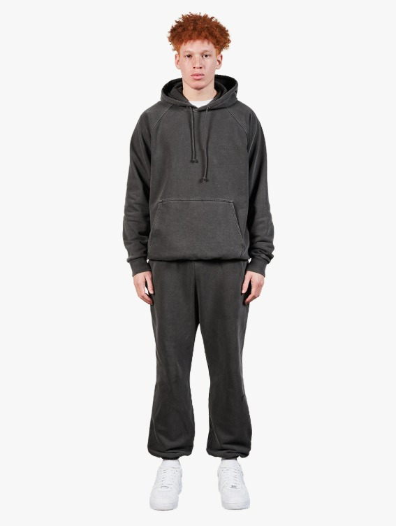 GOALSTUDIO [10% OFF] PIGMENT DYE HOODIE & JOGGER PANTS SET - DARK GREY