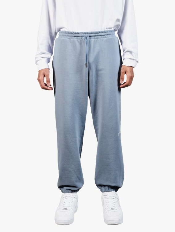 GOALSTUDIO SIGNATURE LOGO PANTS - BLUE GREY