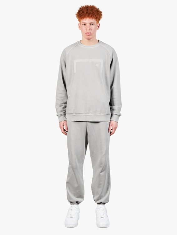 GOALSTUDIO [10% OFF] PIGMENT DYE SWEATSHIRT & JOGGER PANTS SET - GREY